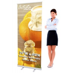 36 x 80 Economy Retractable Banner Stand & Graphic Print