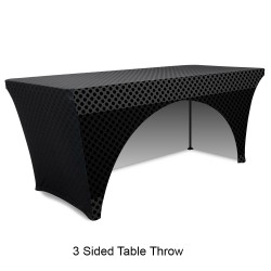 Stretch 6ft Table Throw Full Color Printing