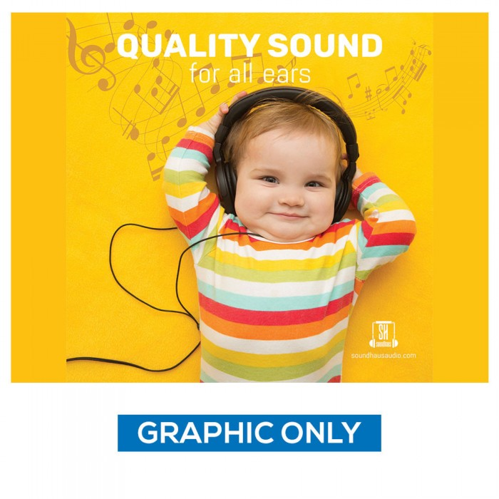 """8 ft. RPL Fabric Pop Up Display - 89""""h Straight Graphic Package (Graphic Only)"""