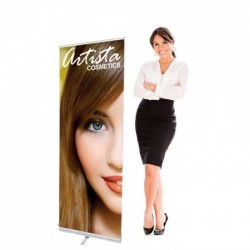 24 x 72 Economy Retractable Banner Stand & Graphic Print
